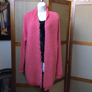 FREE PEOPLE LONG SWEATER CARDIGAN TOP SIZE S/P